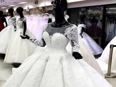 Cost of hiring wedding gowns in Lagos