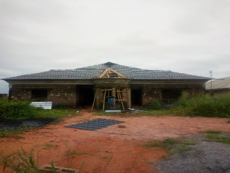 Roofing bungalow in Nigeria