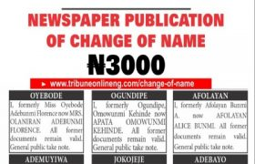 How to change name in Nigeria